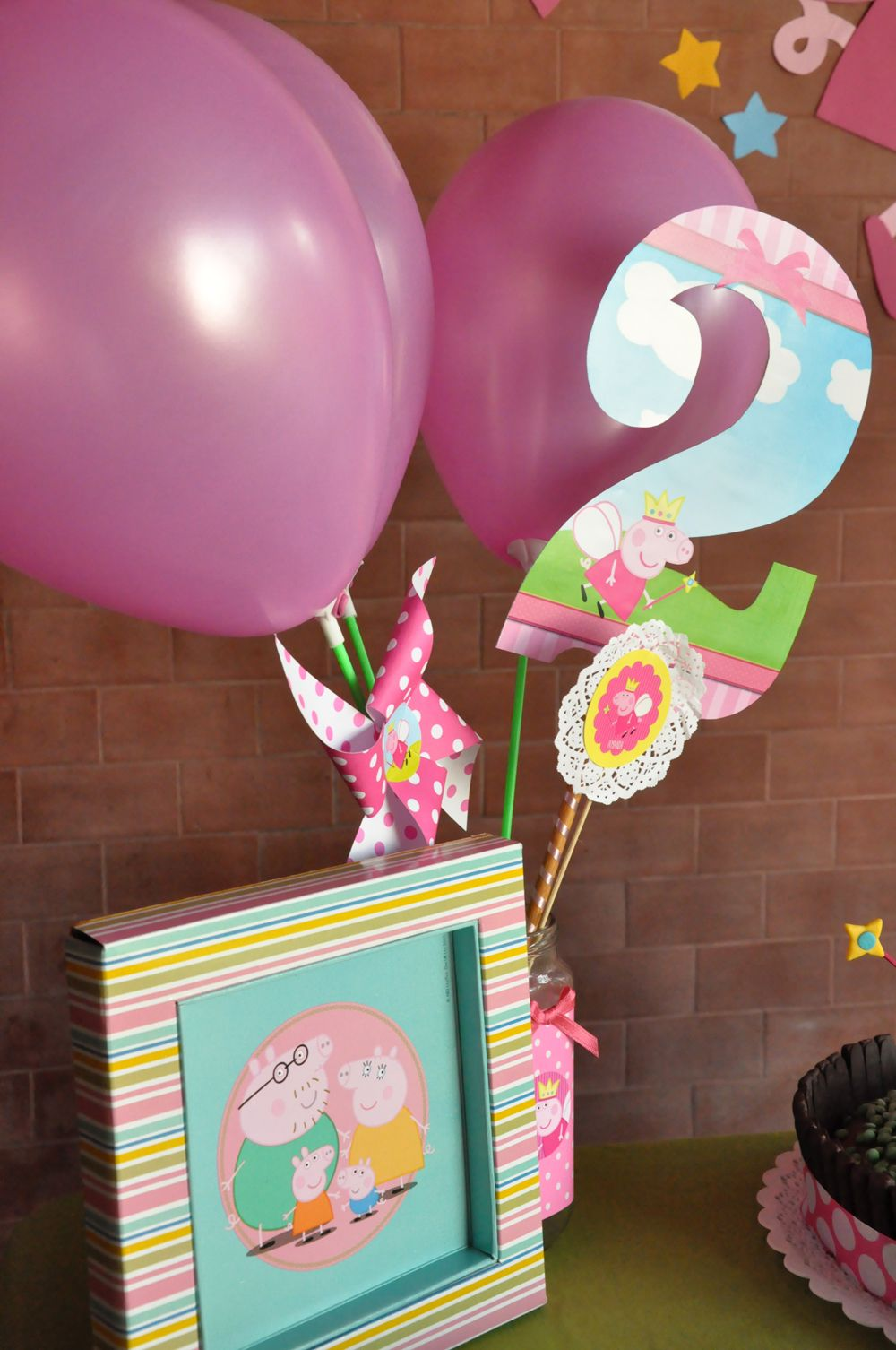 algunas ideas para decorar un cumple infantil con temtica peppa pig princesa