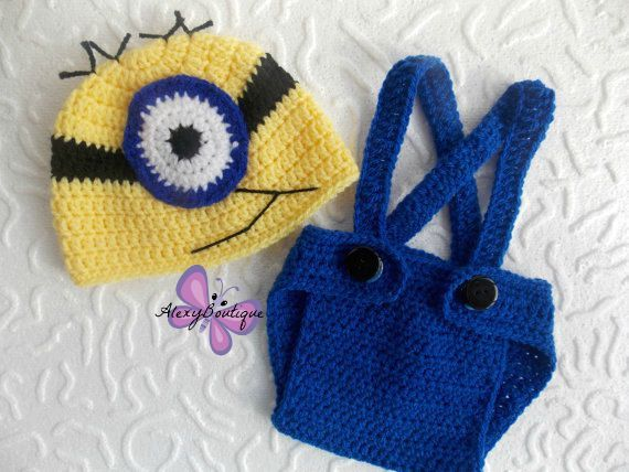 Crochet Minion outfit baby boy crochet minion by AlexyBoutique