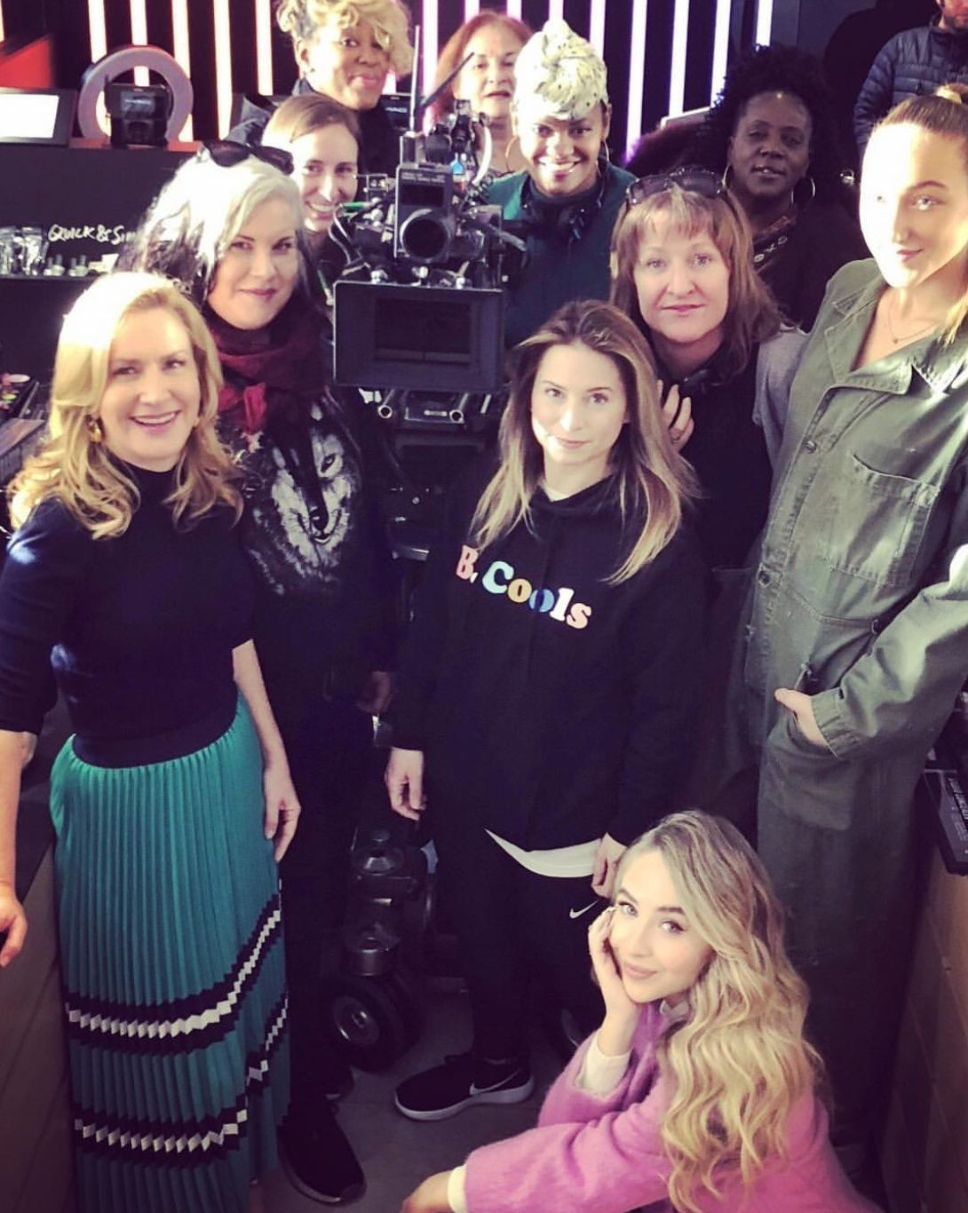 2019 Sabrina Carpenter on-set filming the Netflix original movie