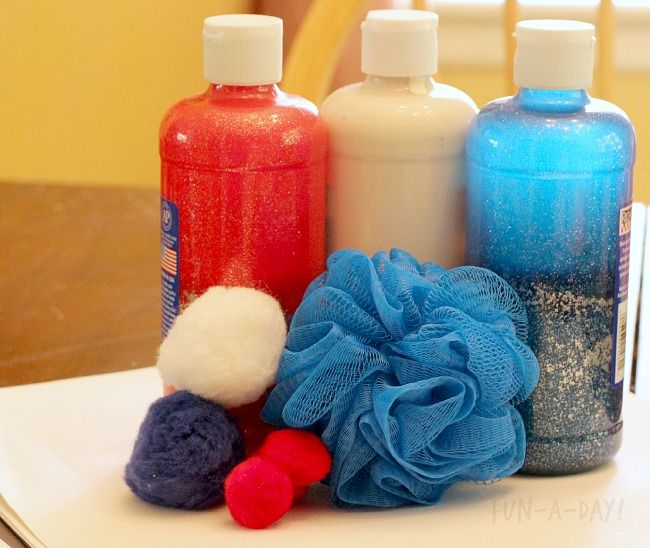 Fun materials to create a fireworks painting!