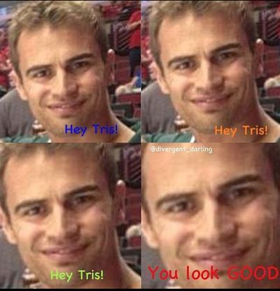 I never thought I would find Theo's face scary looking.