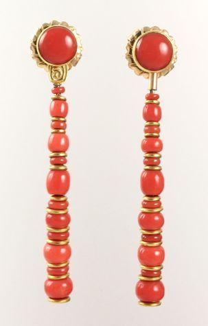 Coral+Earrings