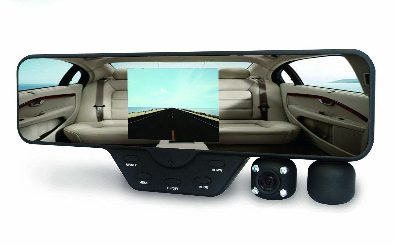 Black box m1000 rearview mirror dash cam dual camera