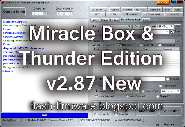 DownloadMiracle Box & Thunder Tool Feature: 1 MTK Improve