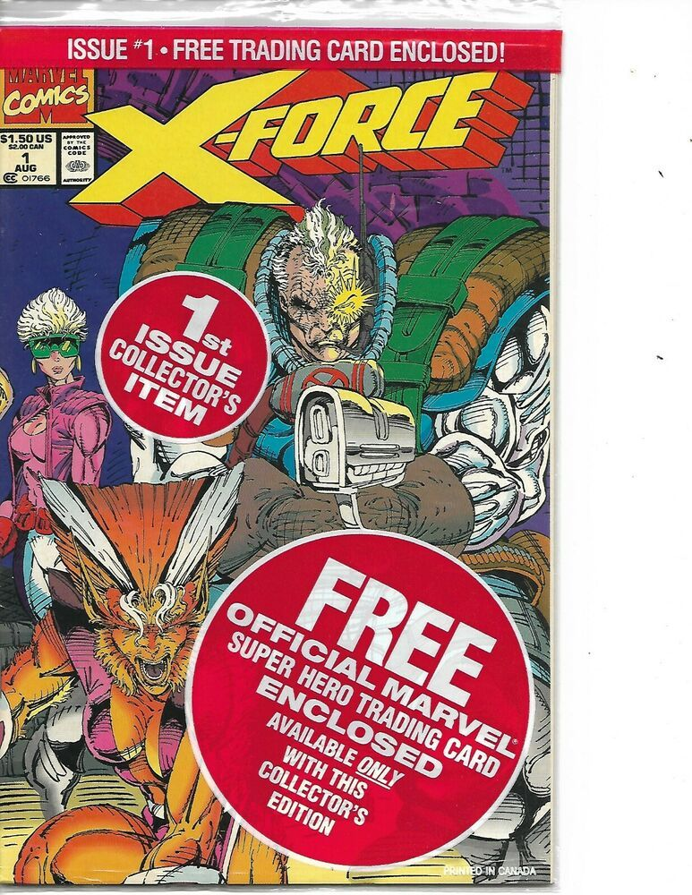 1991 Still POLYBAGGED - LIEFELD MARVEL COMICS: X-FORCE #1