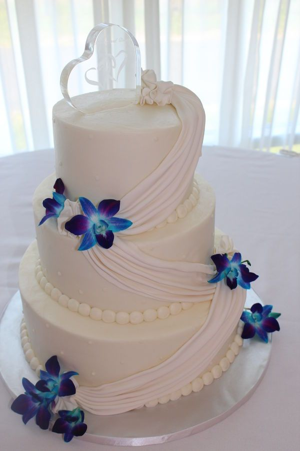Wedding Cakes With White Orchids