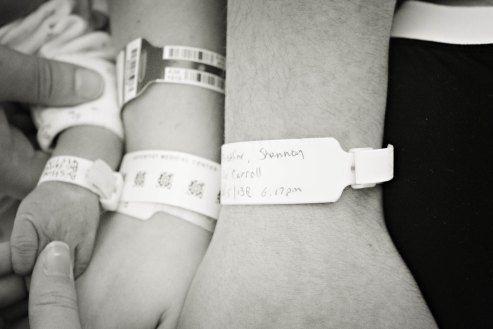 Kodak Moment Hospital Arm Bracelets Taken Together Mom Dad Baby