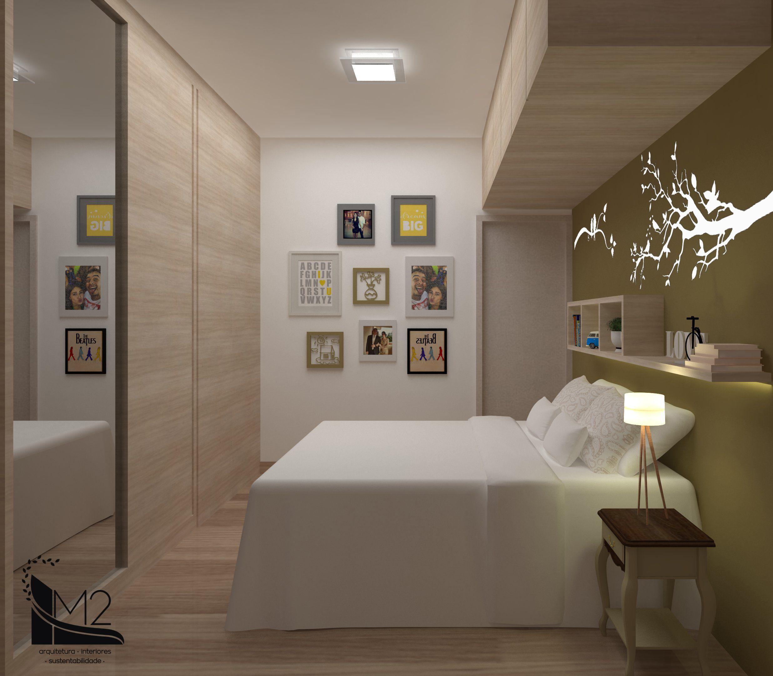 Projeto De Quarto De Casal Pequeno Com Decora O Quando O Casal  ~ Quarto De Casal Planejado De Apartamento Pequeno