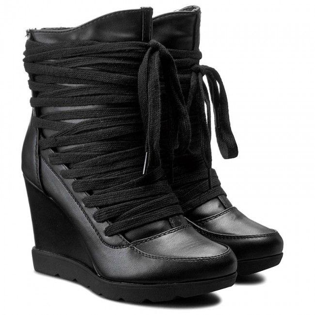 Botki Jenny Fairy W16aw998 1 Czarny Boots Wedge Boot Shoes