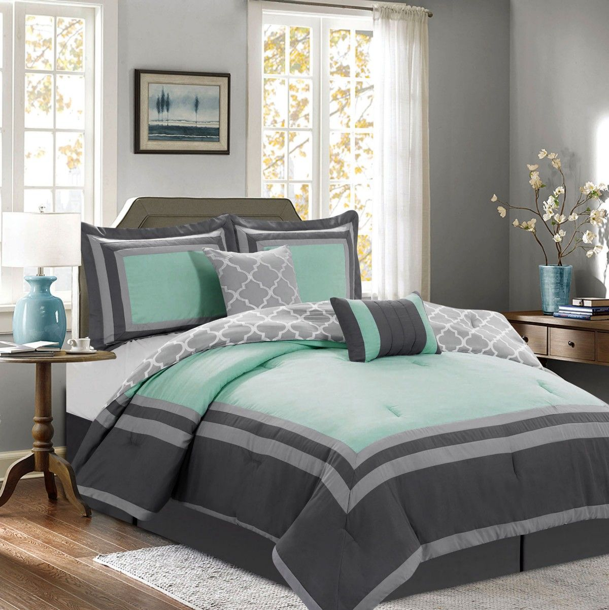 the free stripe today bath amalfi striped product comforter set bedding shipping overstock under canopy