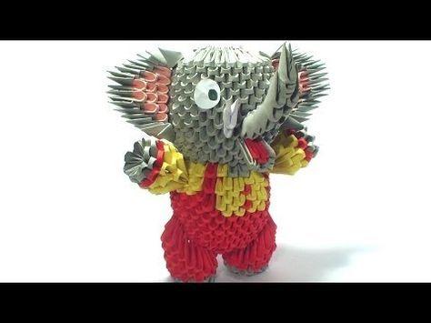 Photo of 3D Origami Zirkus Elefant Tutorial