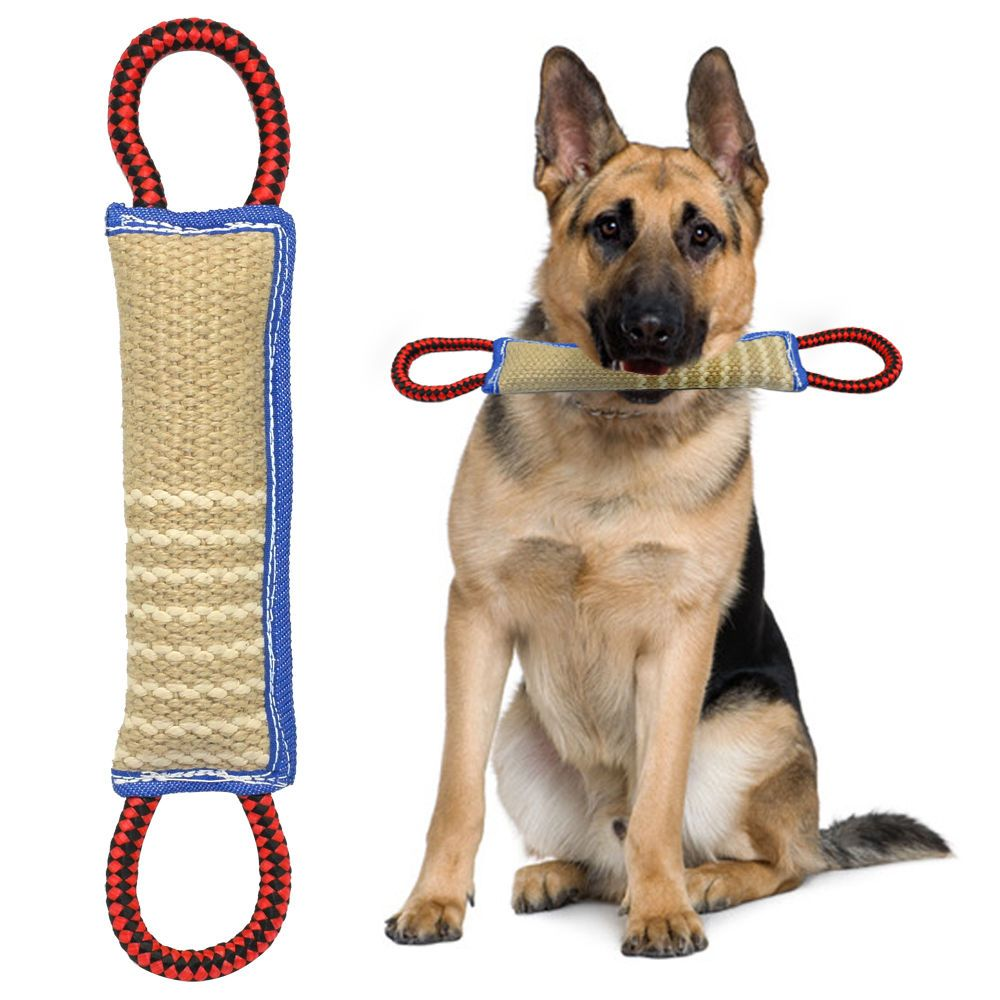 12 Long Linen Large Pet Dog Bite Tug Toy For Training Police K9
