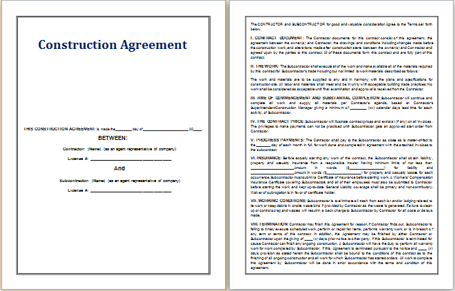 Finance Agreement Template At WorddoxOrg  Microsoft Templates