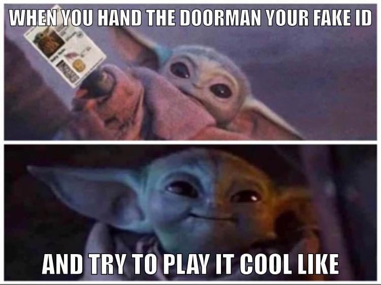 Pin By Id Maria On Baby Yoda Yoda Funny Yoda Meme Star Wars Memes