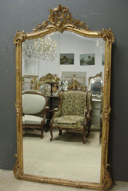 Large Antique French Mirror French Mirror Antique Mirror Mirror