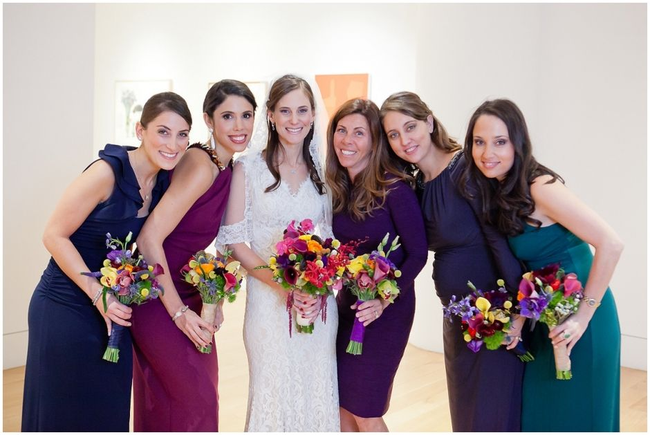 Jewel Toned Bridesmaid Dresses Fls By Long Stems Ashley Bartoletti Photography