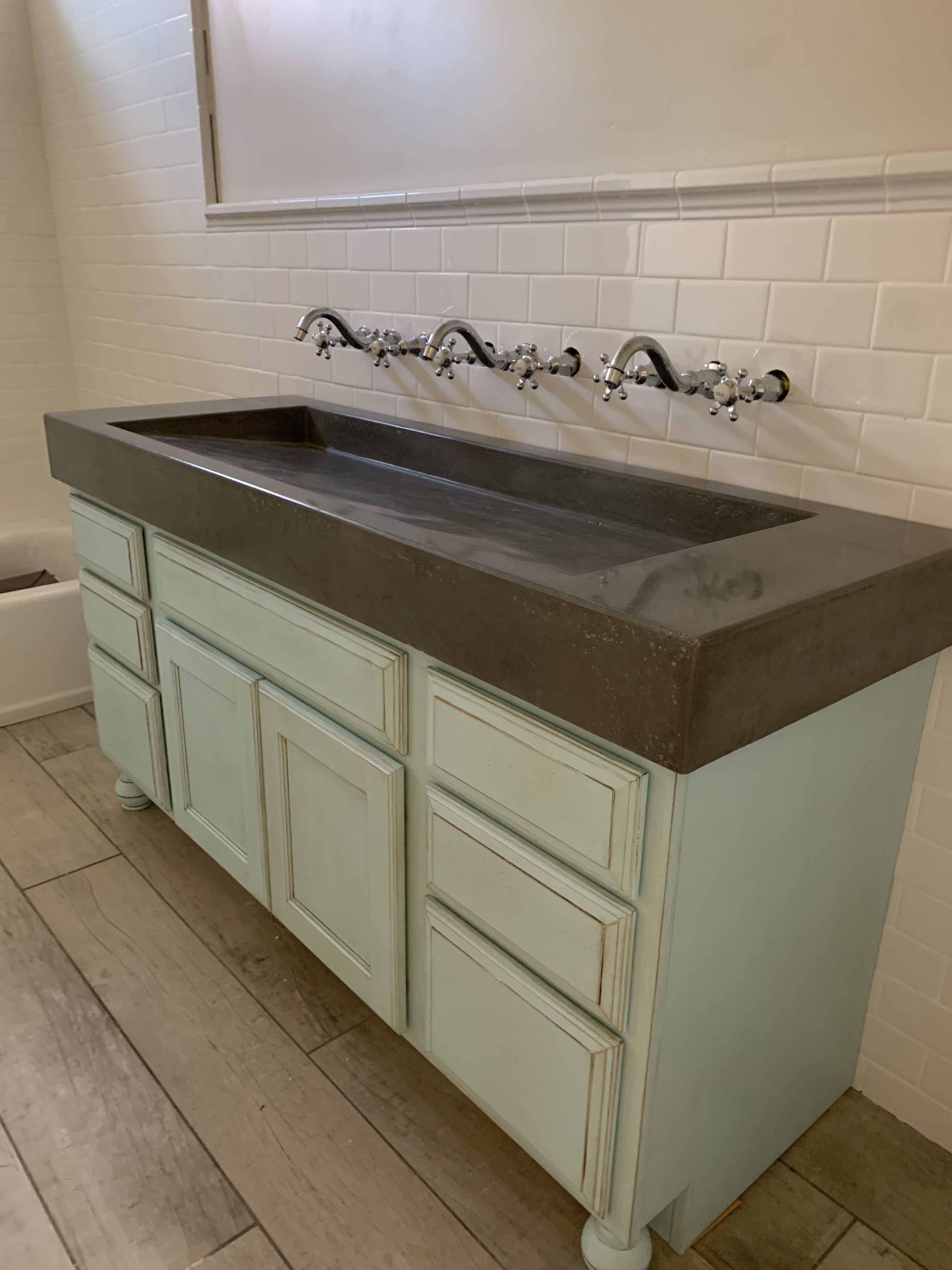 Concrete Sink With Images Cement Bathroom Bathroom Vanity