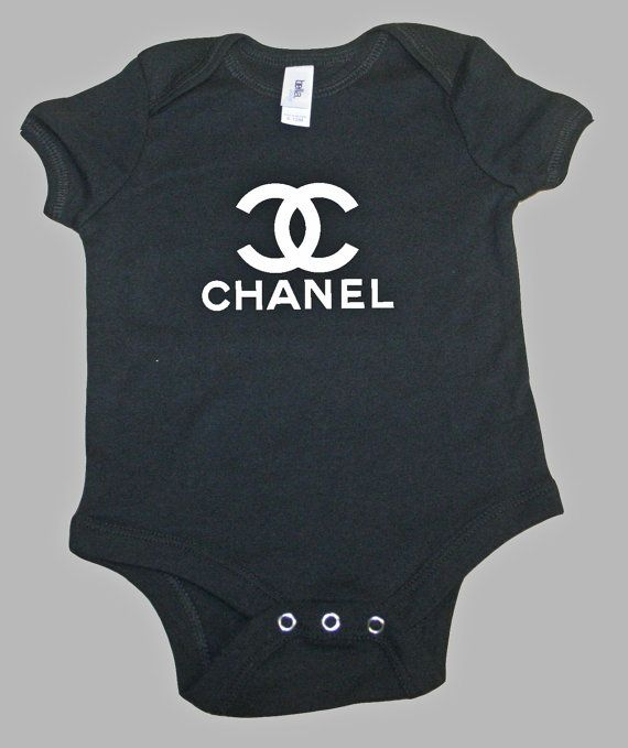 4476778b2cce2a Baby Onesie Chanel Inspired Choose your size by VintVant on Etsy
