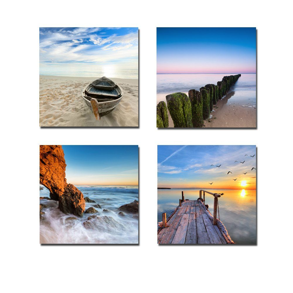 Canvas Print, Stretched and Framed, 4 Panels Canvas Art The Extensive Modern Canvas Wall Art for Home Decoration, 12x12inchx4pcs, P4R1x1-6