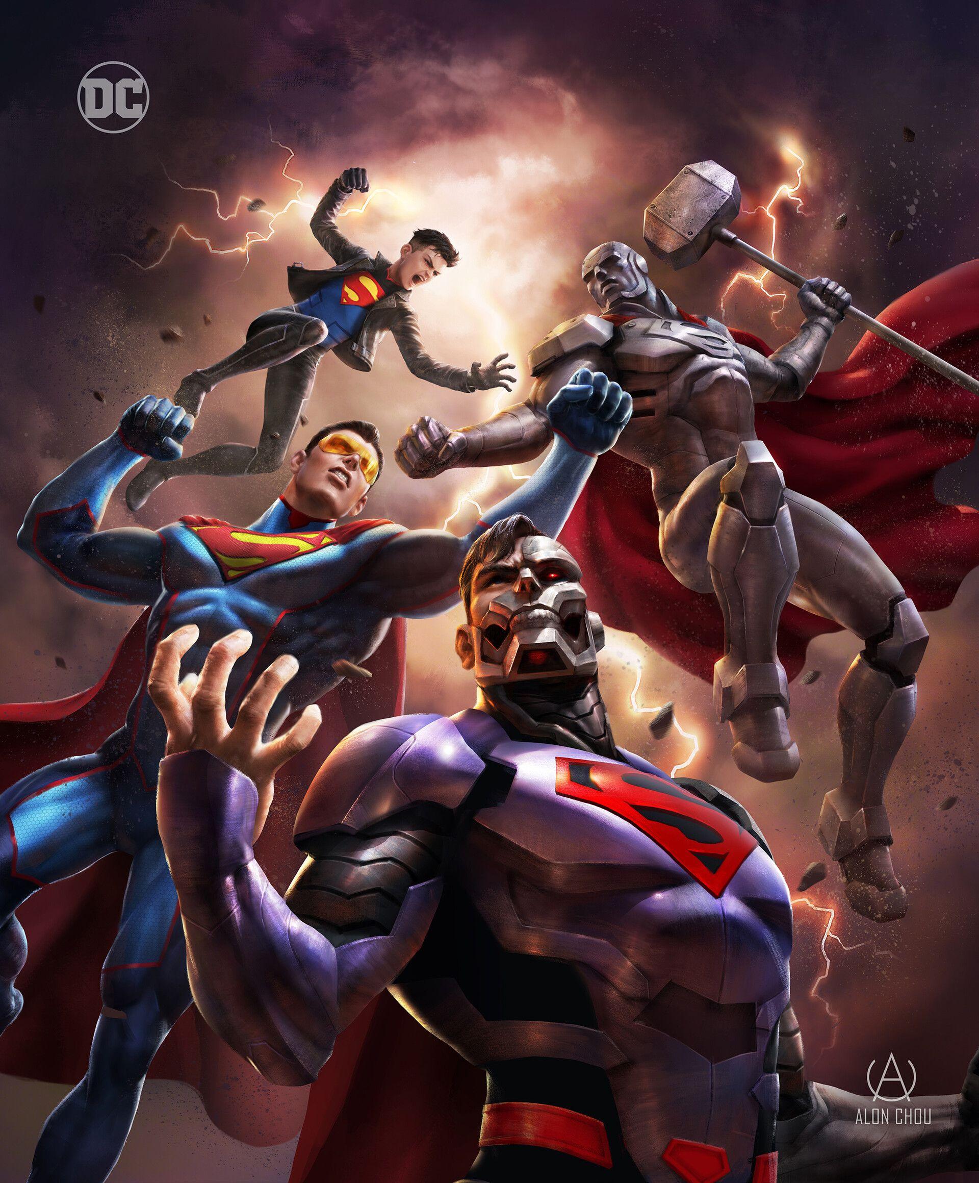 ArtStation - Reign of the Superman , Alon Chou | Superman ...