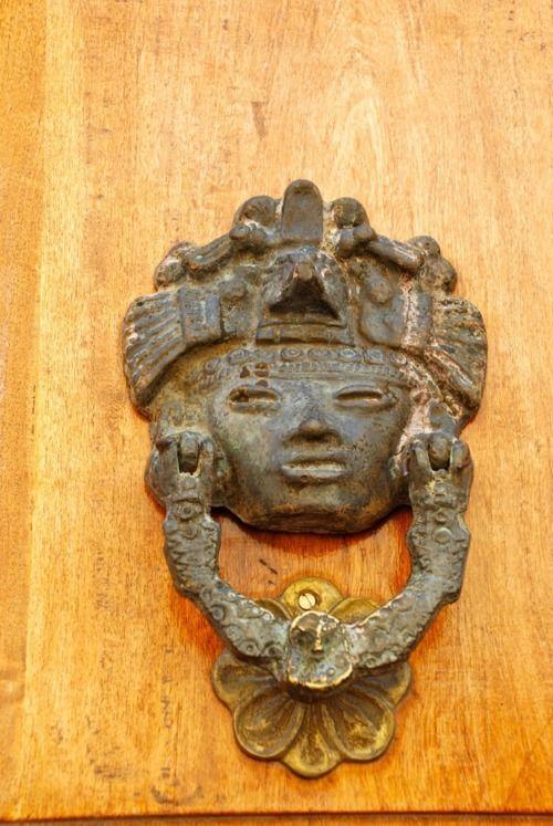 Beautiful Mexican antique door knocker in San Miguel de Allende ...