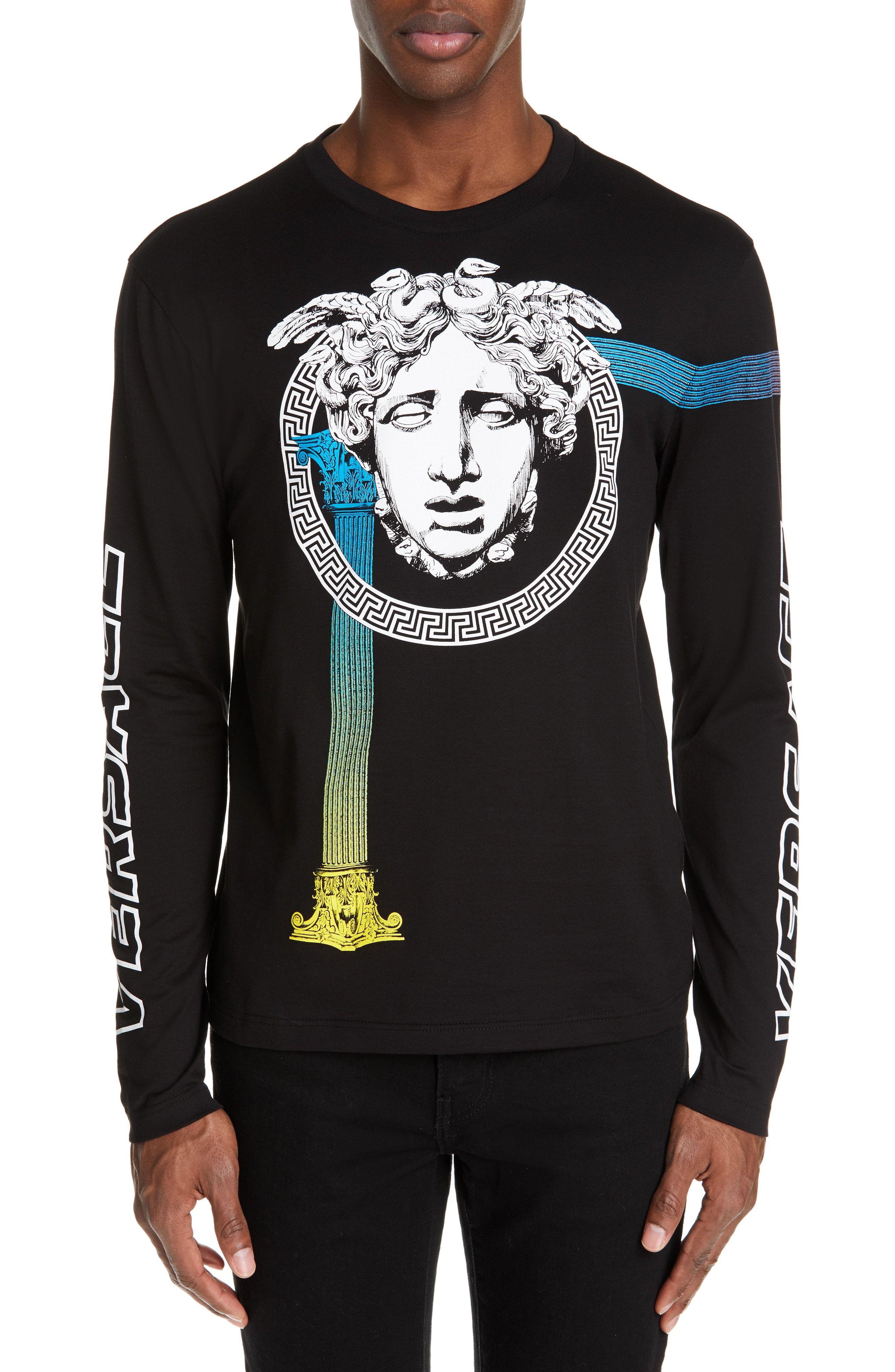 f87ec849 VERSACE MEDUSA GRAPHIC LONG SLEEVE T-SHIRT. #versace #cloth ...