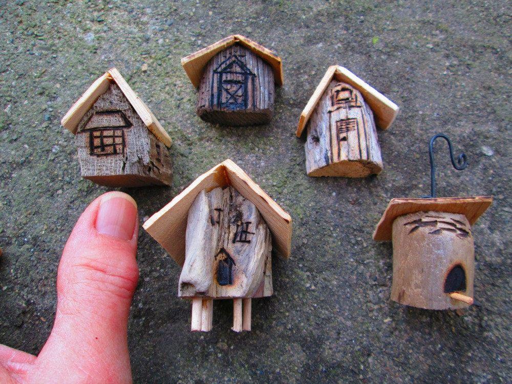 5 Piece Miniature Fairy Garden Village House Ornaments Container Garden  Cottages. $28.00, Via Etsy