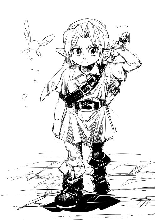 The Legend of Zelda: Majora\'s Mask, Young Link and Tatl ...