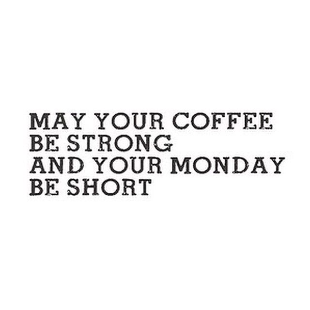 Strong coffee. Monday sucks. real_simple's photo on Instagram