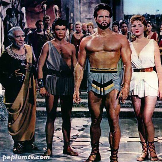 PEPLUM: By the Gods! Gabriele Antonini, Steve Reeves and Sylva Koscina in  HERCULES