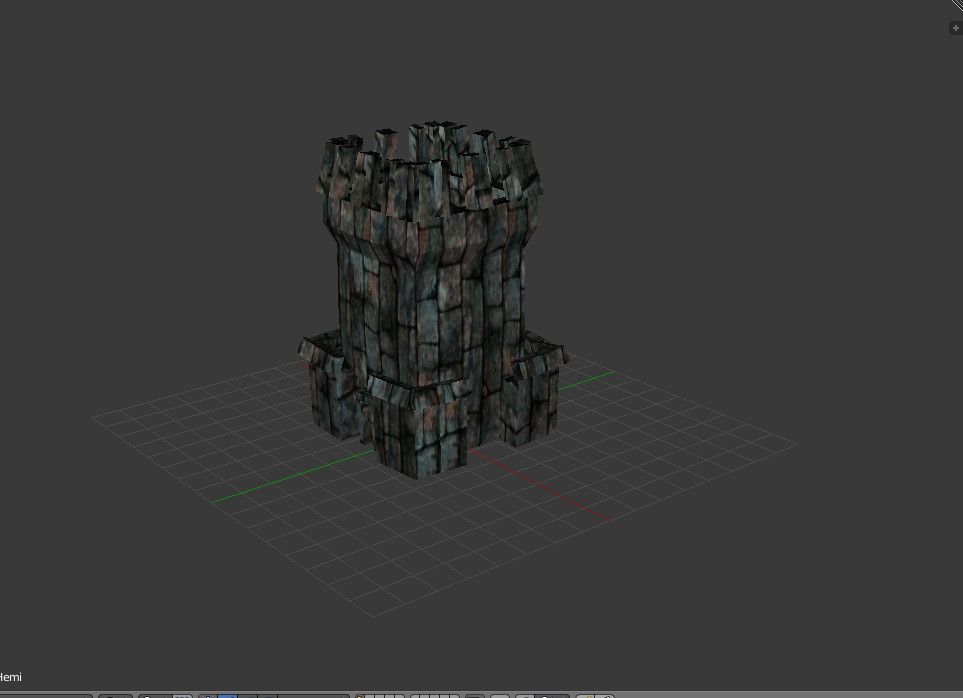 3D Model Of Old Stone Tower - 3D Model