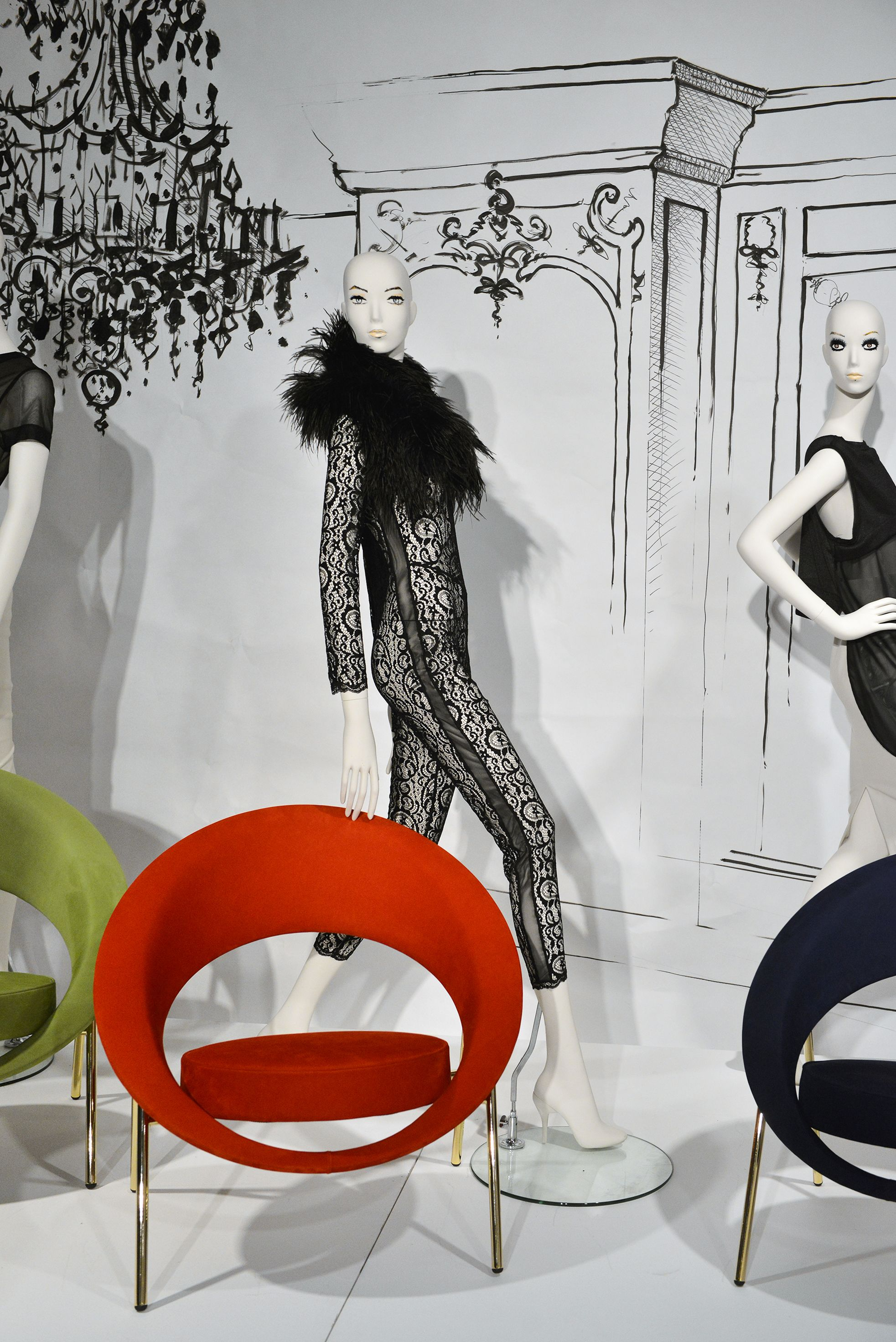 For The Paris Design Week Cofrad Mannequins Welcome In Its Showroom The Designer Of French Furniture Burov On Paris Design French Furniture Furniture Design