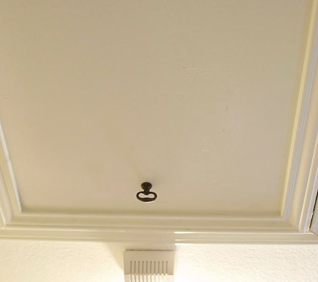 Tip For Attic Doors Looks Better Than Hanging Cord