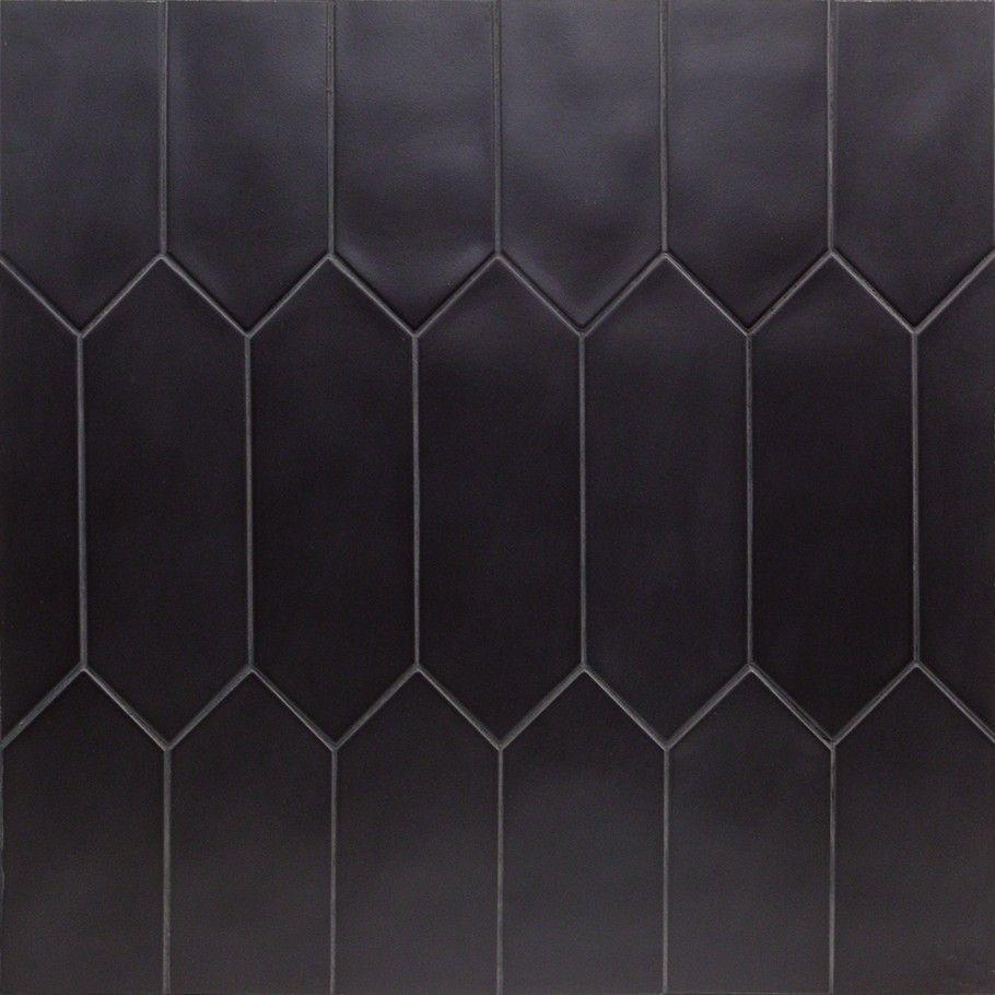 Aliante Black 4x12 Porcelain Tile In Matte Finish Modern