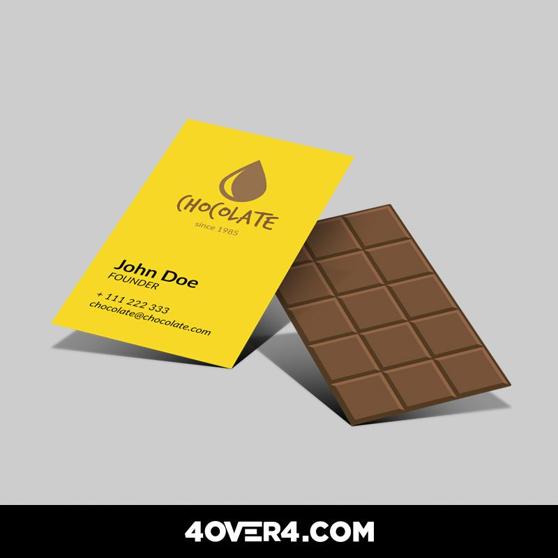 Capture the smell and deliciousness of chocolate in a business card ...