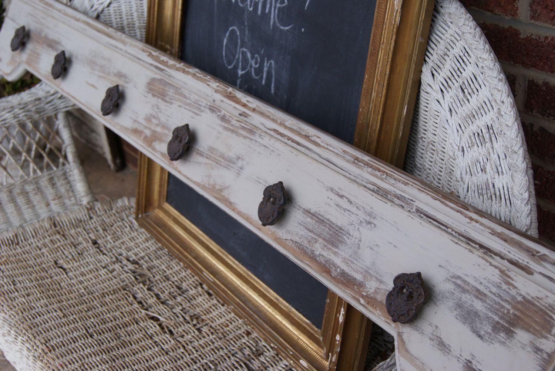 Reclaimed Wood Coat Rack & Shelf