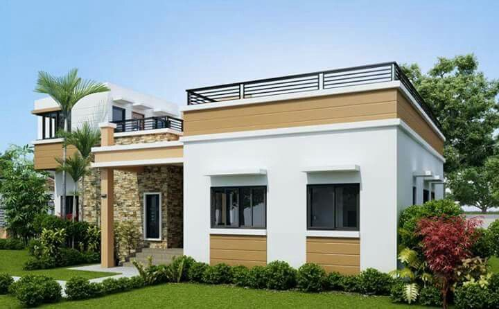Free house design modern bungalow roof bedroom also pin by liza flor on with deck in four rh pinterest
