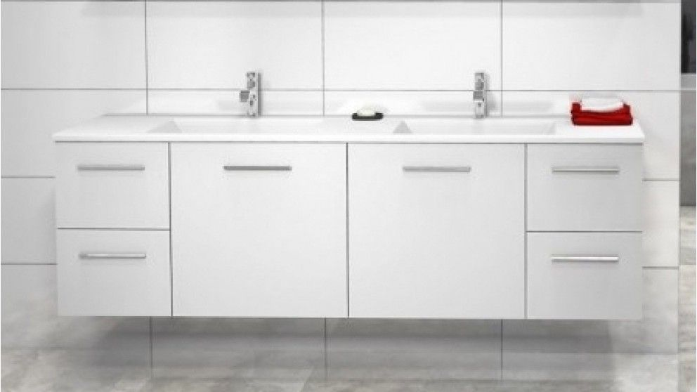 Timberline Austin Regal 1500mm Double Bowl Wall Hung Vanity Bathroom Vanities