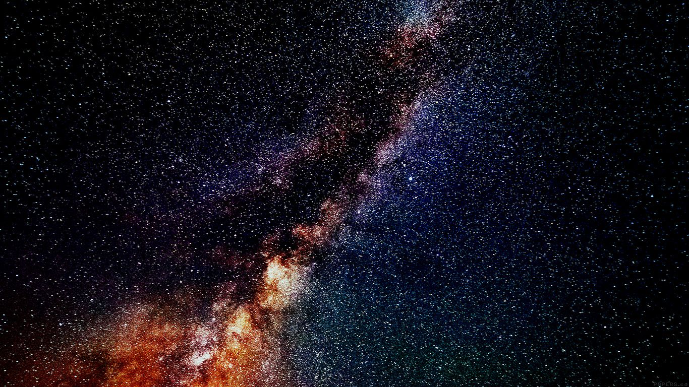 Galaxy Wallpaper Iphone 7 Plus: Mm73-star-gazing-night-flare-color-green-nature-sky