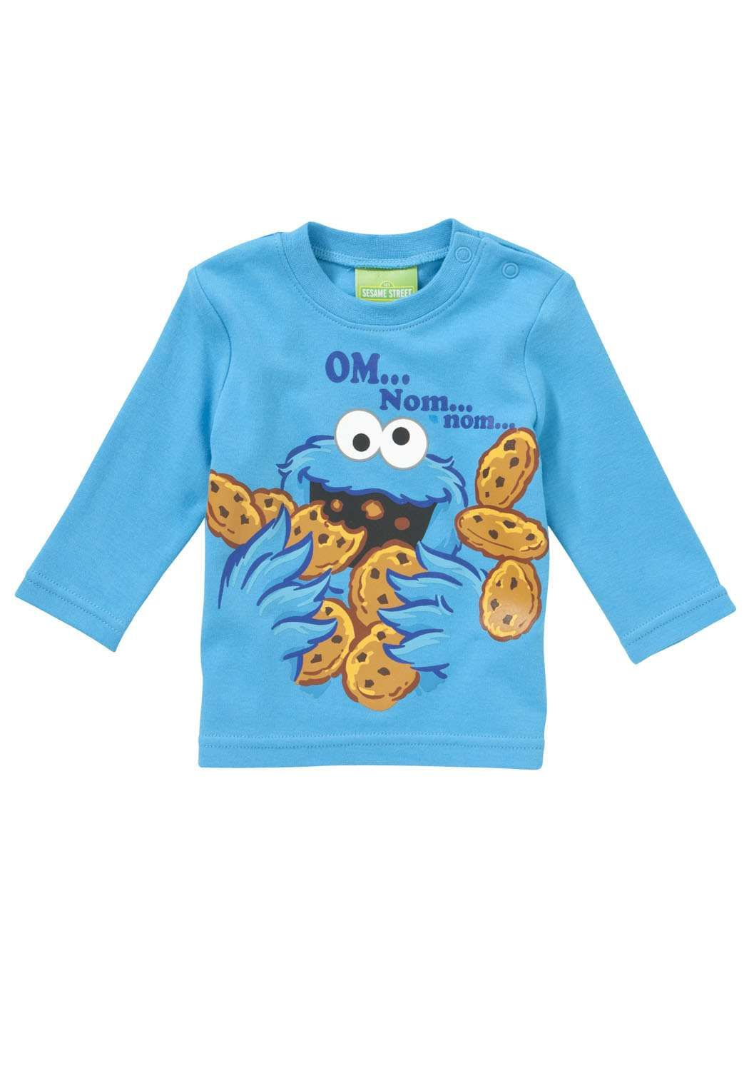 f22a3aed8 Sesame Street Cookie Monster Long Sleeve T-Shirt Elmo And Friends, Awesome  Boy,