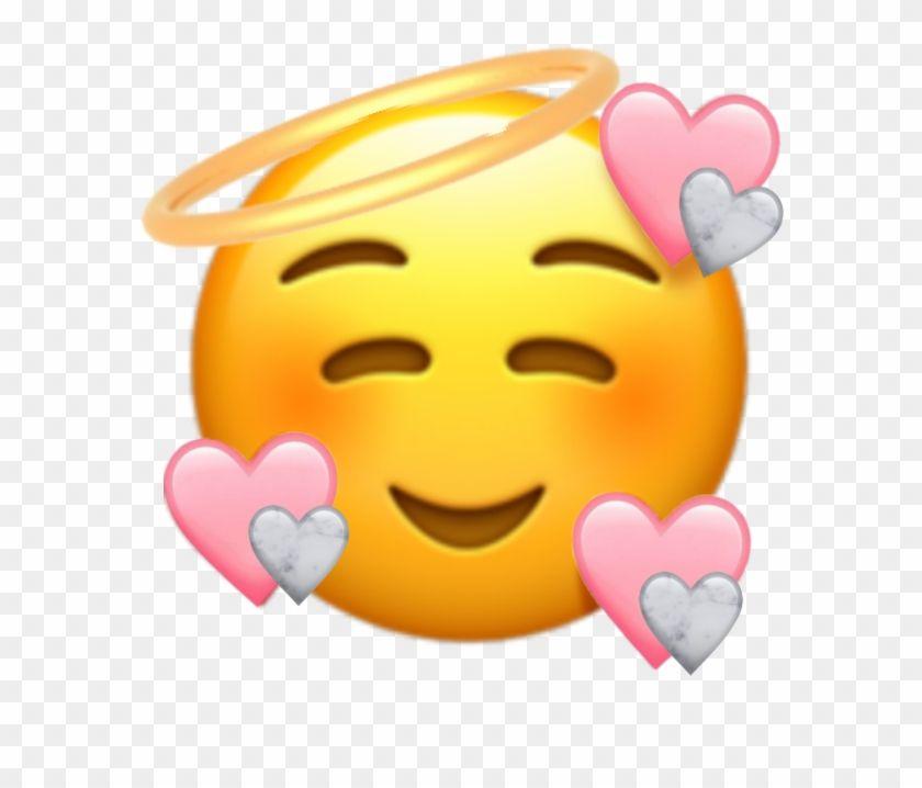 Cute Heartemoji Emoji Love Pink Marbke Angel Emoji With Hearts Around Clipart Is Be In 2020 Cute Emoji Wallpaper Emoji Stickers Iphone Emoji Wallpaper Iphone