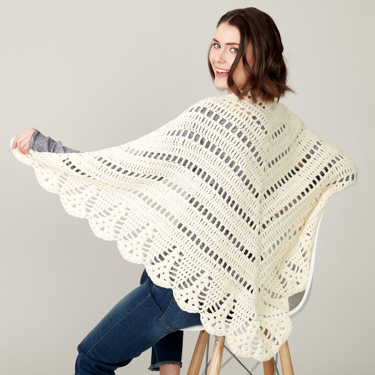 Caron Crochet Prayer Shawl | shawls | Pinterest | Chal, Ganchillo y ...