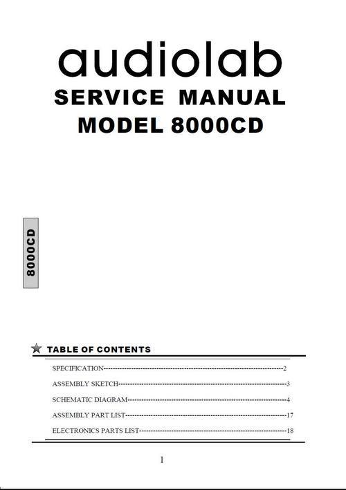audiolab 8000p original service manual in pdf