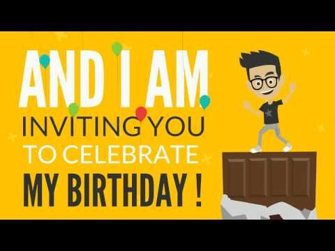 Original birthday invitation youtube mijn verjaardagsfeest original birthday invitation youtube stopboris Image collections