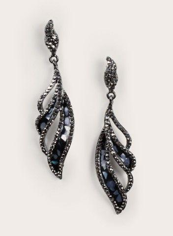 Francine Earrings in Pewter