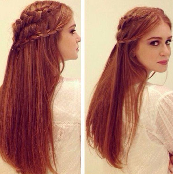 Penteado de princesa moderna em Marina Ruy Barbosa Peinados