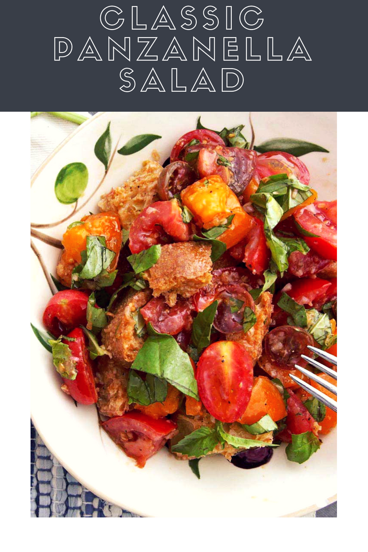 Classic Panzanella Salad Tuscan Style Tomato And Bread Salad Recipe Recipe Panzanella Salad Recipe Panzanella Salad Tomato Salad Recipes
