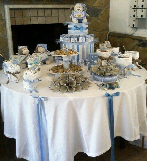 Allestimento battesimo baby shower baby christening christening e baby shower - Tavolo per prima comunione ...