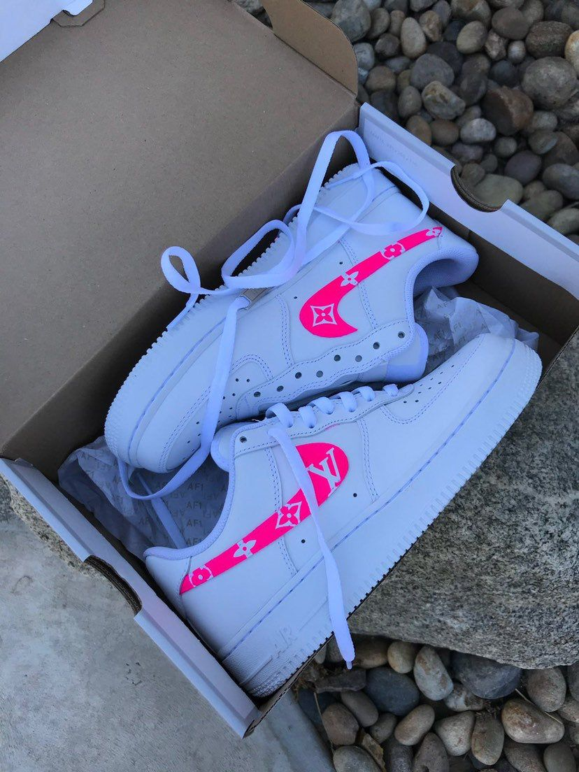 Blue/red/black custom Louis Vuitton air force 1 (With