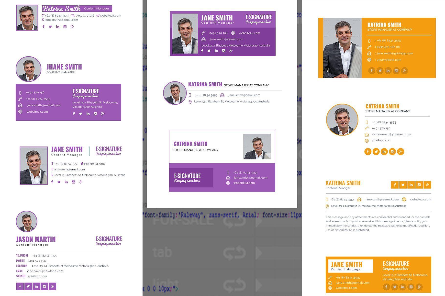R35 HTML Responsive ESignature Email template design